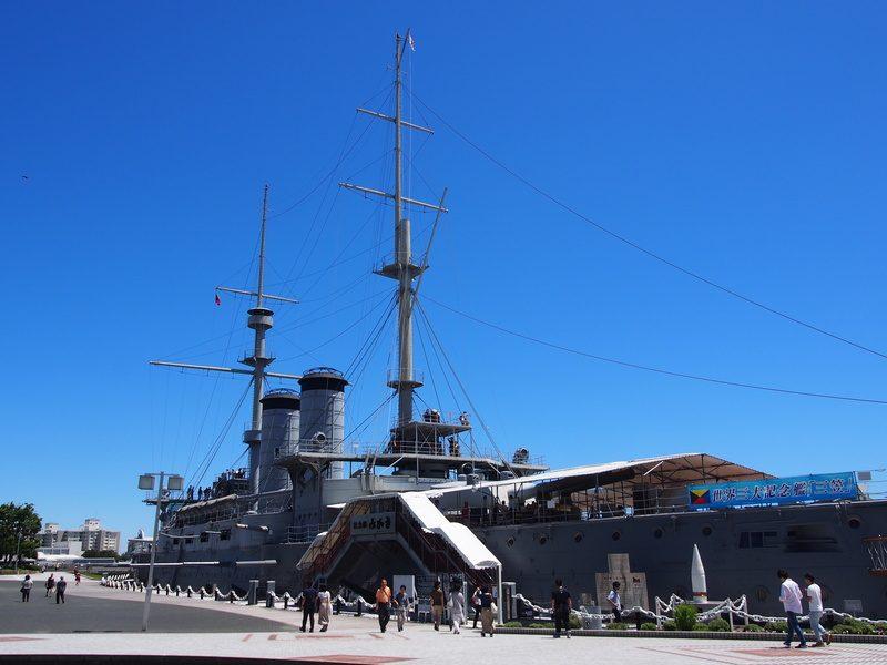 三笠公園にある戦艦三笠