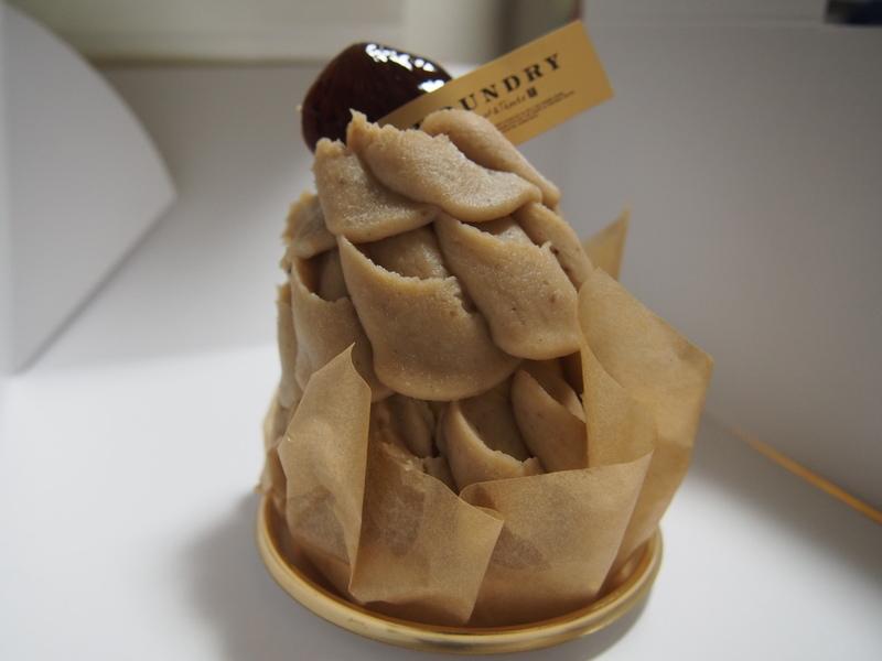 FOUNDRYの絶品ケーキ、新栗のモンブラン(税込み793円)