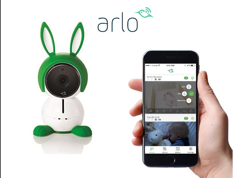 リアルタイムで赤ちゃんの様子を見守れるベビーカメラ「Arlo Baby(アーロベビー)」の画像