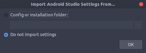 既存のAndroid Studioの設定を引き継ぐか選択できます。