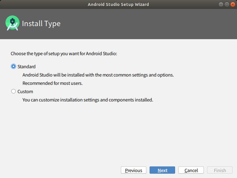 インストールタイプは、「Standard」のまま「Next」を選択します。