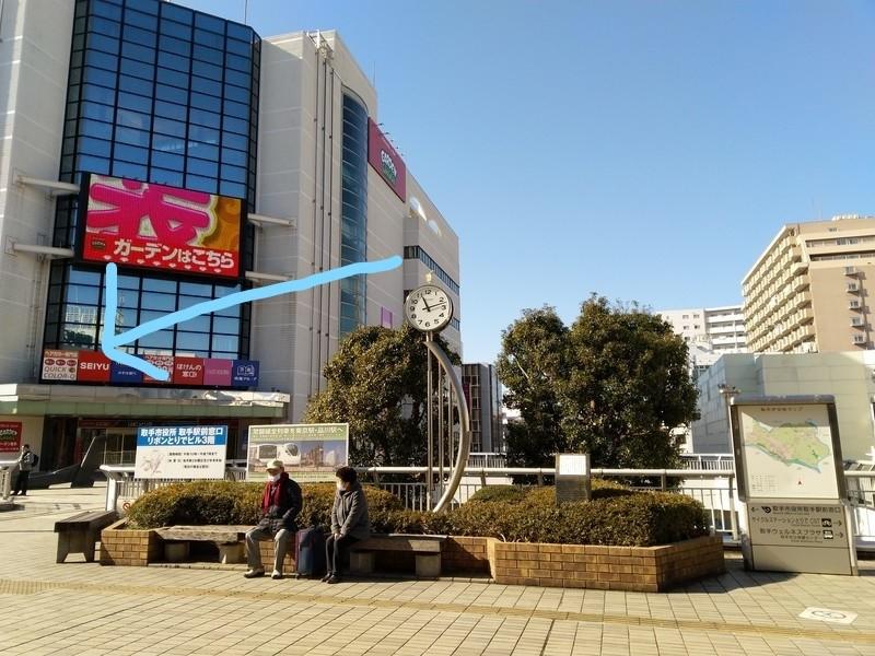 取手駅の駅前にあるビルにはSEIYUが入っています。