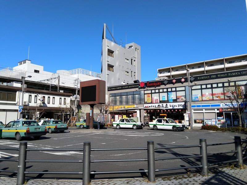 取手駅東口にも松屋や日高屋、バーミヤンなどがあります。
