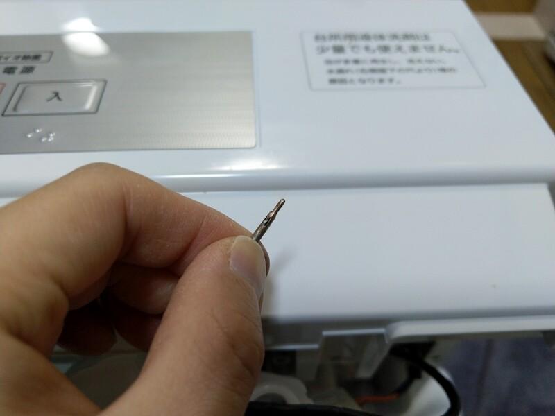 磨いた後の電極は、光沢を取り戻していました!
